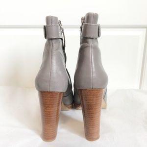 Zara Shoes - Zara Woman Grey Boots Heel Ankle Booties Heels 37